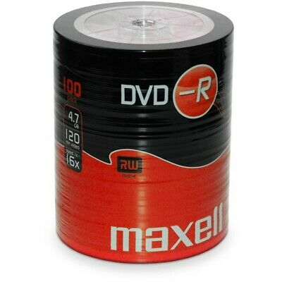 £28.99 • Buy 200 Maxell DVD-R RECORDABLE 16x Speed Blank Discs 4.7GB  2x 100 PACK