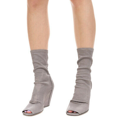 £8.50 • Buy RRP €1225 RICK OWENS Leather Ankle Boots EU36.5 UK3.5 US6.5 Distressed Sock Like