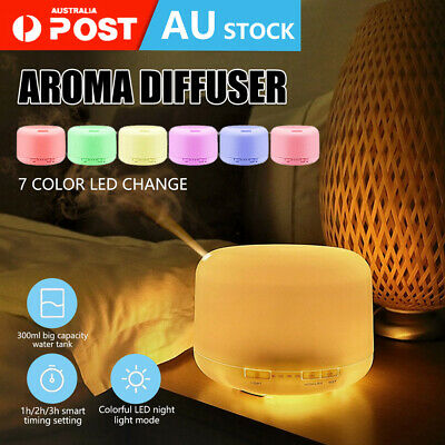 AU20.59 • Buy Aroma Aromatherapy Ultrasonic Diffuser Essential Oil Electric Air Humidifier LED