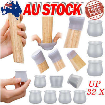 AU9.89 • Buy 32 X Silicone Chair Leg Caps Floor Protectors Furniture Table Cover Feet Pads
