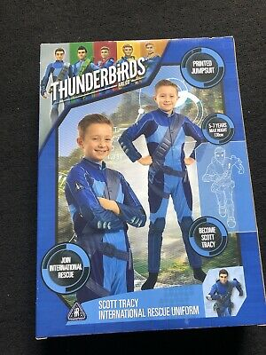 £4.99 • Buy Boys Thunderbirds Scott Tracy Printed Jumpsuit Age 5/7 Brand New In Box