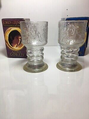£5.81 • Buy Lord Of The Rings Glass Goblets Strider And Frodo Fellowship Of The Ring