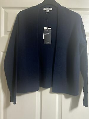 £40 • Buy M&S Autograph Cashmere Cardigan In Navy Size Small  BNWT