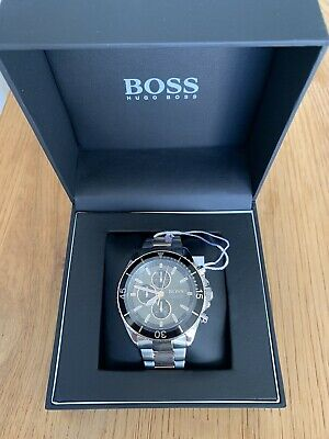 £40 • Buy Hugo Boss Ocean 46mm Black Rose Stainless Steel Case With Silver Gold Stainless