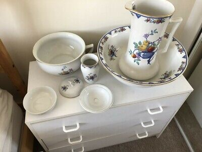 £20 • Buy Large Victorian Style Wash Stand 5 Piece Bowl ,chamber Pot , Jug, Vase Soap Dish