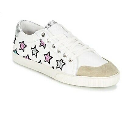 £20 • Buy ASH Hush Majestic Star Leather Trainers UK 8 EUR 41 White Multicoloured Low Tops
