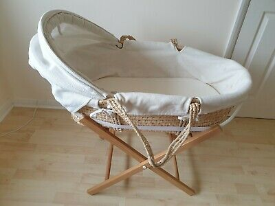 £10 • Buy New Born Wicker Moses Basket Crib With Handles And Stand