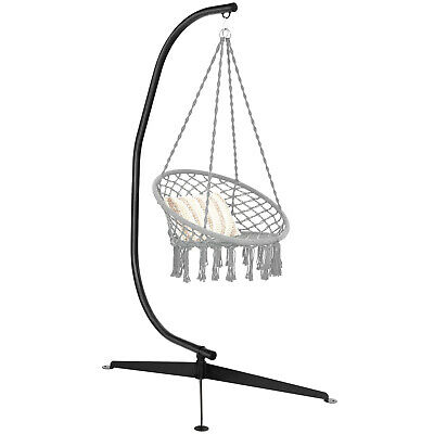 £105.99 • Buy Hammock Chair Stand Solid Steel C-shaped Hanging Air Porch Swing Chair Frame