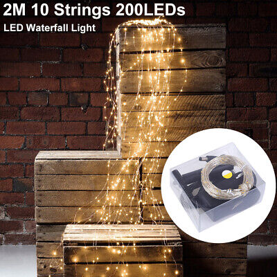 £2.99 • Buy 2M 200 LEDs Waterfall Vines Branch Tree Wire Fairy String Lights Christmas Decor