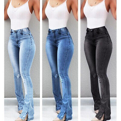£24.39 • Buy UK Womens High Waist Flared Jeans Ladies Bootcut Skinny Stretchy Denim Trousers