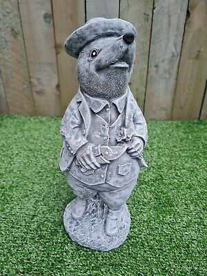 £25.99 • Buy Stone Mr Mole With Hat Wind In The Willows Outdoor Garden Ornament