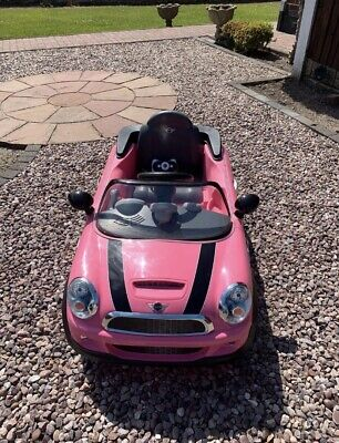 £120 • Buy Pink Mini Cooper 6V Electric Ride On With Remote Control - Very Good Condition