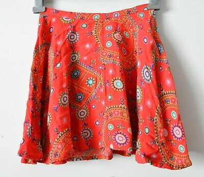 AU29 • Buy Tigerlily Skirt Womens Size 6 Red Green A Line