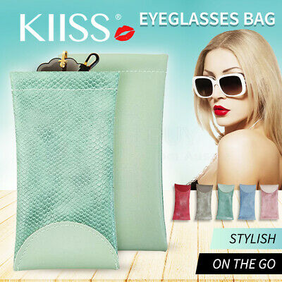 AU6.58 • Buy Mouth Snapped Sunglasses Eyeglass Glasses Case Soft Pouch Bag Pocket Spectacle