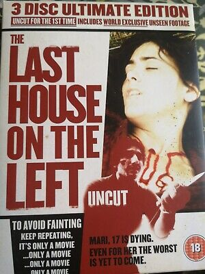 £11.99 • Buy Last House On The Left:Uncut(3 Disk Ultimate Edition) (DVD, 2007)
