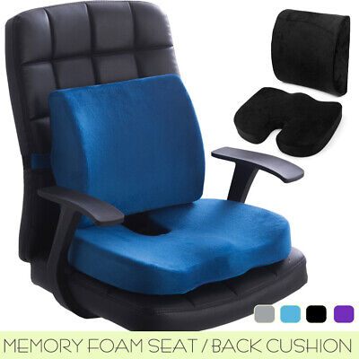 AU21.99 • Buy Memory Foam Lumbar Back Pillow Support Seat Cushion Home Office Car Seat Chair