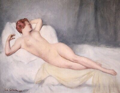 £53 • Buy LEON GALAND (1872-1960) FRENCH IMPRESSIONIST SIGNED OIL NUDE RESTING To £34,000