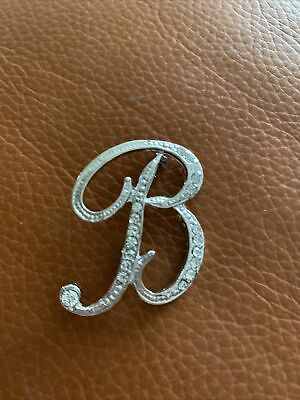 £3.25 • Buy Letter B Brooch Pin Diamonte Silver Tone New From UK