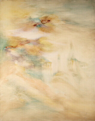 £24.80 • Buy Pierre Graziani (1932-2020)  Large French Oil Canvas - Clouds Sunset Sky