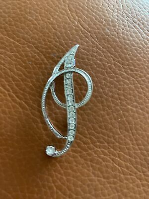 £3.25 • Buy Letter I Brooch Pin Diamonte Silver Tone New From UK