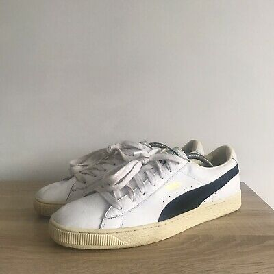 £13.99 • Buy Puma Basket Size 11 Mens Trainers White Leather Black Suede States Clyde