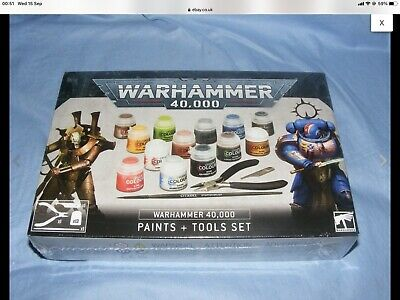 £28.50 • Buy Games Workshop Warhammer 40k Paints And Tools Set Sealed New