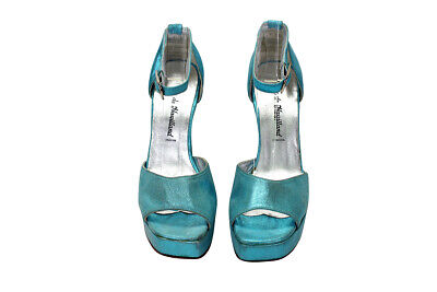 £109.11 • Buy Terry De Havilland Turquoise Ankle Buckle Wedge | Womens Size 36