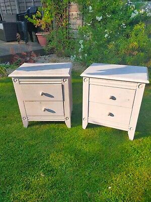 £5.40 • Buy Ikea Bedside Cupboards, White Painted Wood, Used