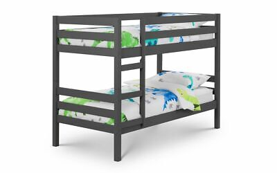 £279.99 • Buy Camden Anthracite Solid Pine 3ft Single Bunk Bed 2 Man Delivery