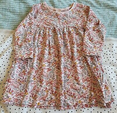 £2 • Buy Girls Age 12-18 Months Long Sleeved Floral Dress