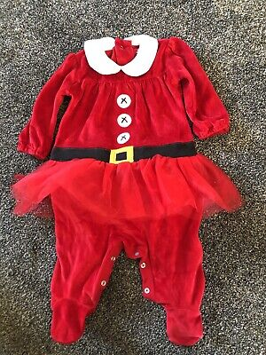 £0.99 • Buy Baby Girl 3-6 Months Next Christmas Mrs Claus Santa Outfit