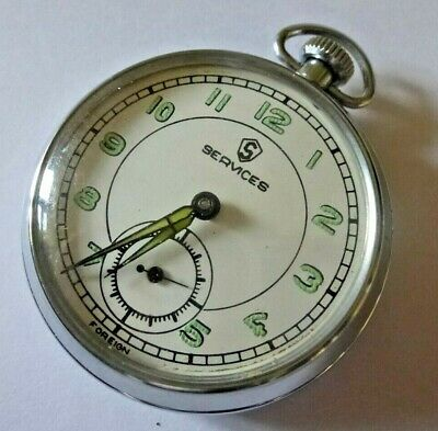 £5.50 • Buy Gent's Vintage Services Foreign Made Hand Winding Mechanical Pocket Watch