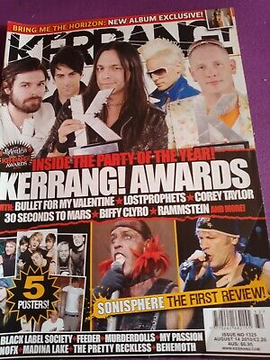 £1.50 • Buy Kerrang Awards Special Jared Leto 30 Seconds To Mars Sonisphere Wednesday 13