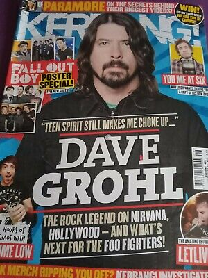 £1.50 • Buy Kerrang Dave Grohl Fall Out Boy Poster Special Pete Wentz Paramore Wednesday 13
