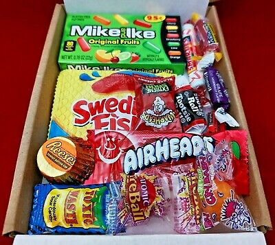 £3.45 • Buy American Candy Sweets Gift Box Personalised Message USA Pick N Mix Warheads