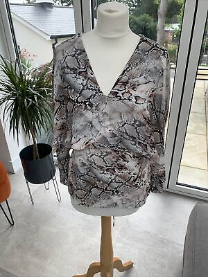 £5 • Buy River Island Size 10 Unusual Style Snakeskin Top/blouse Immaculate