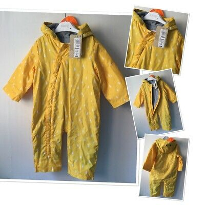 £13.95 • Buy M&S New Tags Unisex Baby Storm Proof Waterproof All One Suit Coat 9-12 Month £20