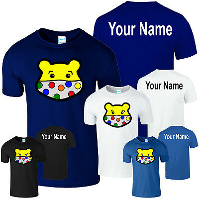 £6.99 • Buy Spotty Pudsey Bear Personalised T Shirt Kids Charity Children In Need Dotty Spot
