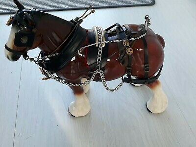 £18 • Buy Large 33cm Vintage Shire Horse - Ceramic, With Tack