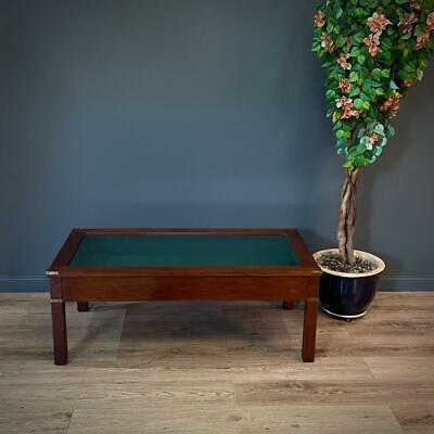 £295 • Buy Attractive Large Mahogany Coffee Table / Bijouterie Cabinet