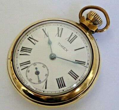 £3.20 • Buy Gent's Vintage 1960s Timex Hand Winding Mechanical Open Face Pocket Watch