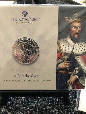 £13.79 • Buy 2021 Alfred The Great UK £5 Coin In Royal Mint Sealed Pack