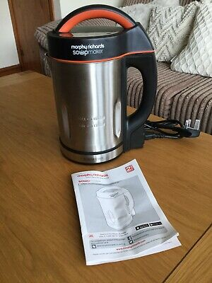 £39 • Buy Morphy Richards Stainless Steel 1.6L Soup / Smoothie Maker 48822 NEW FREE POST