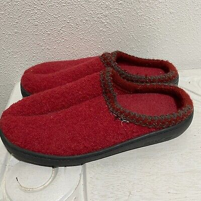 £32.54 • Buy Haflinger Wool Hard Sole Slippers Women's 38 / 8 Speckle Red Made In Germany