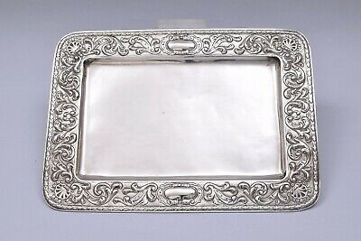£28 • Buy Antique Solid Silver Repousse Tray