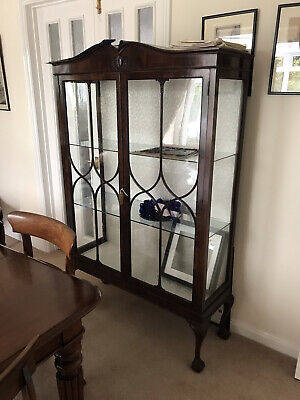 £49 • Buy Large Antique Mahogany Dresser Display Cabinet Excellent Condition