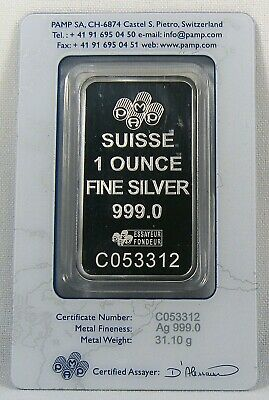 £30.71 • Buy 1 Oz. Pamp Suisse Lady Fortuna Bar .999 Fine Silver WHITE SPOT On Bar #C053312