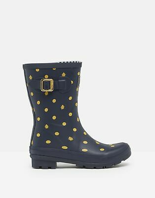 £20 • Buy Joules Womens Molly Mid Height Printed Wellies - Navy Ladybird - Adult 4