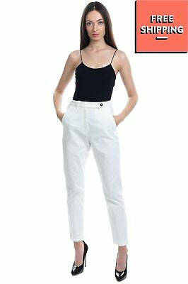 £0.99 • Buy RRP €215 MASSIMO ALBA Chino Trousers Size 40 / XS-S White Zip Fly Cropped Skinny