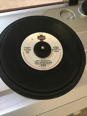 """£1.45 • Buy Voice Of The Beehive 45RPM """"Don't Call Me Baby"""" 1986 PROMO Alternative Rock 7"""""""